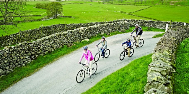 Family Cycling Kentmere - Lake District - Small