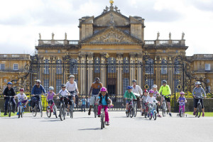 Families take part in the family cycle day at the The Blenheim Palace Sportive & Family Cycle Day, Woodstock, Oxfordshire, Sunday 17th August, 2014.