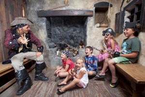 Children enjoy some swashbuckling storytelling at Pirates Quest Newquay
