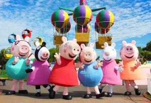 Characters from Peppa Pig World