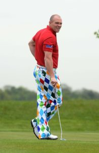 HERTFORD, ENGLAND - MAY 08:  Mike Tindall takes part in the ISPS Handa Mike Tindall 3rd Annual Celebrity Golf Classic at The Grove Hotel on May 8, 2015 in Hertford, England.  (Photo by Dave J Hogan/Getty Images) *** Local Caption *** Mike Tindall