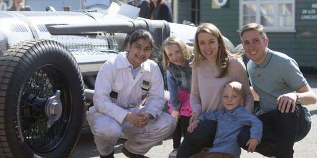 Family at Brooklands Museum