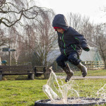 First ever London Puddle Jumping Championships at WWT London Wetland Centre